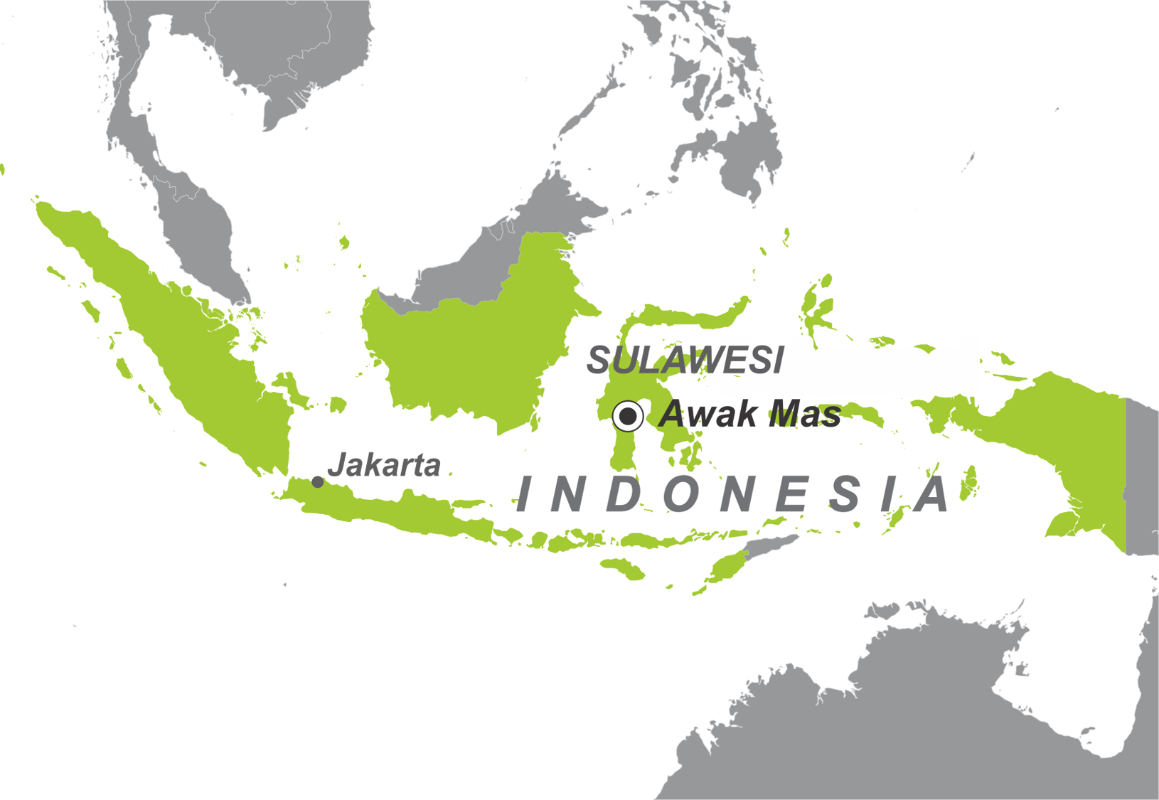 Figure 1: Awak Mas Gold Project location in Indonesia.