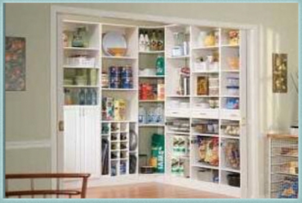 More organization isn't always a good thing. This pantry would drive me crazy.
