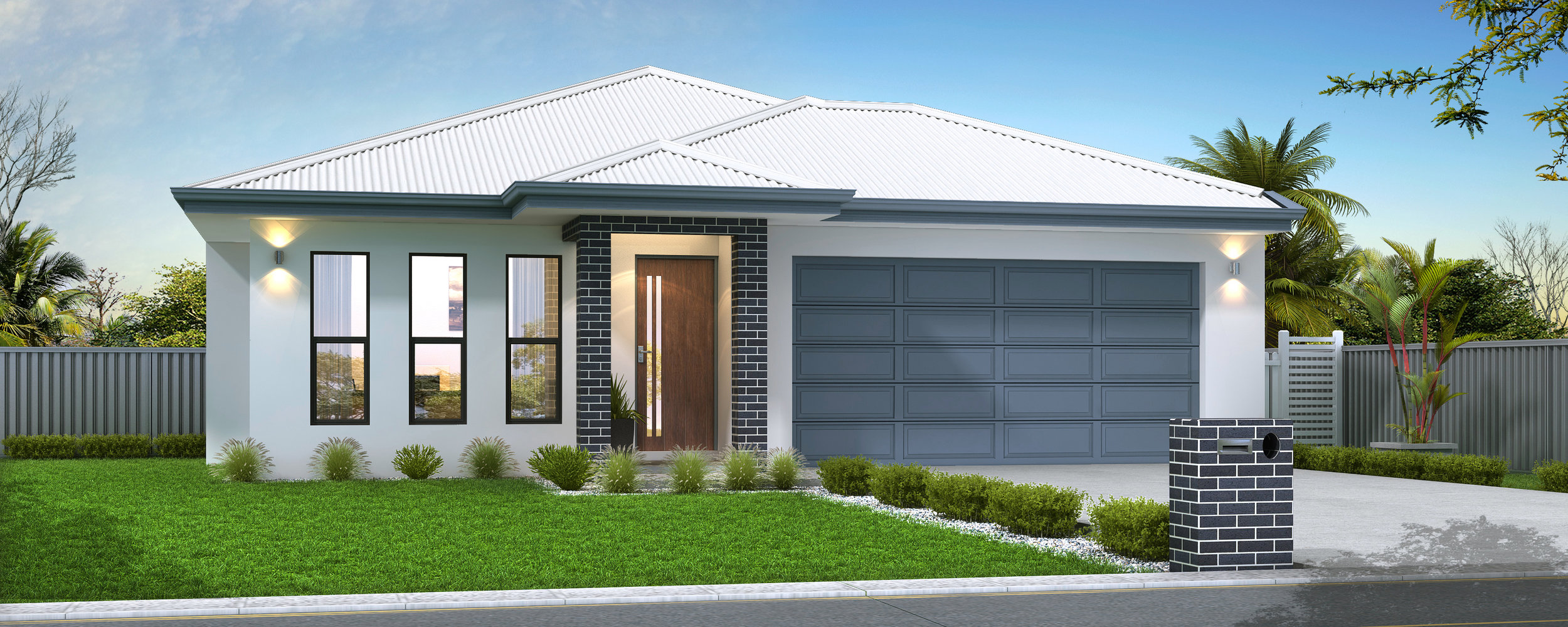 Our Popular Emma 180 Design with 4 Bedrooms, 2 Bathrooms, Double Garage, Theatre and Walk in Pantry!  *Please Note - Facade Illustrations are indicative only.   CONTACT US FOR FURTHER INFORMATION OR VISIT OUR DISPLAY AT GREATER ASCOT