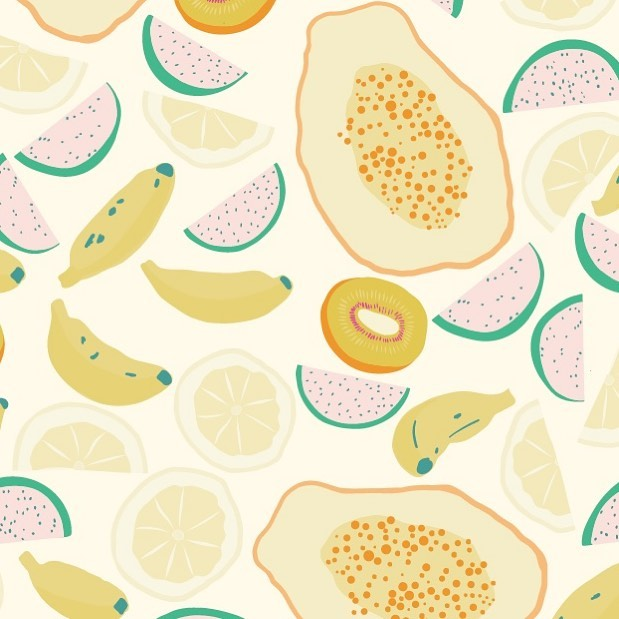 I'm dreaming of sunshine and the tropics! Here's a #tbt my tropical fruit pattern and the wish for warmer days. . . . . . . . #summerdays🌞 #100dayproject #foodillustration  #patternfood  #artlicensing #patterns #createandcultivate #patternlover #patterndesign #flowers #patternlicious #surfacepattern #surfacepatterncommunity #surfacepatterns #floralpattern #artistsoninstagram #artlicensing #createcultivate #patternbank #patternobserver #patternobsessed #miid #makeitindesign #magnolia #summerillustration #tropicalfruit