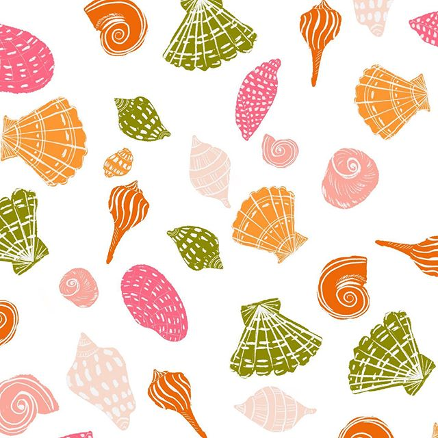 Been a bit quiet here as we enjoy our wonderful summer holiday but did manage to play with #procreate and create this fun seashell pattern . . . . . . . . #patterndesign #patternmaking #patterndesigner #creativeprocess #patterns #patternbank #patternobserver #patternobsessed #surfacedesign #surfacepattern #surfacepatterndesign #artlicensing #seaside #oceaninspired #miid #summermemories #shellpattern #seasidepattern #patternlove #artistsoninstagram #instaart #patternlicious #procreateillustrations #seashells #seashellpattern