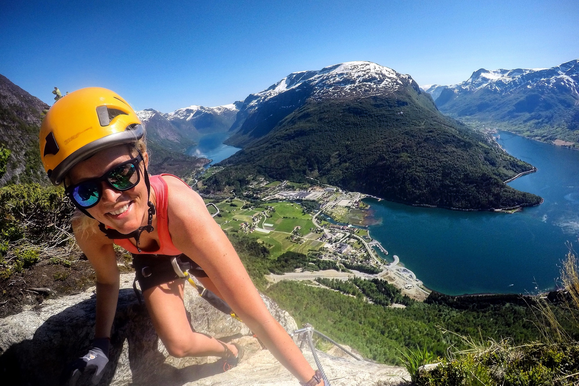 Package: Via Ferrata Loen and Loen Skylift - Join the experienced guides from Loen Active in the Via Ferrata, and return to fjord level with Loen Skylift.