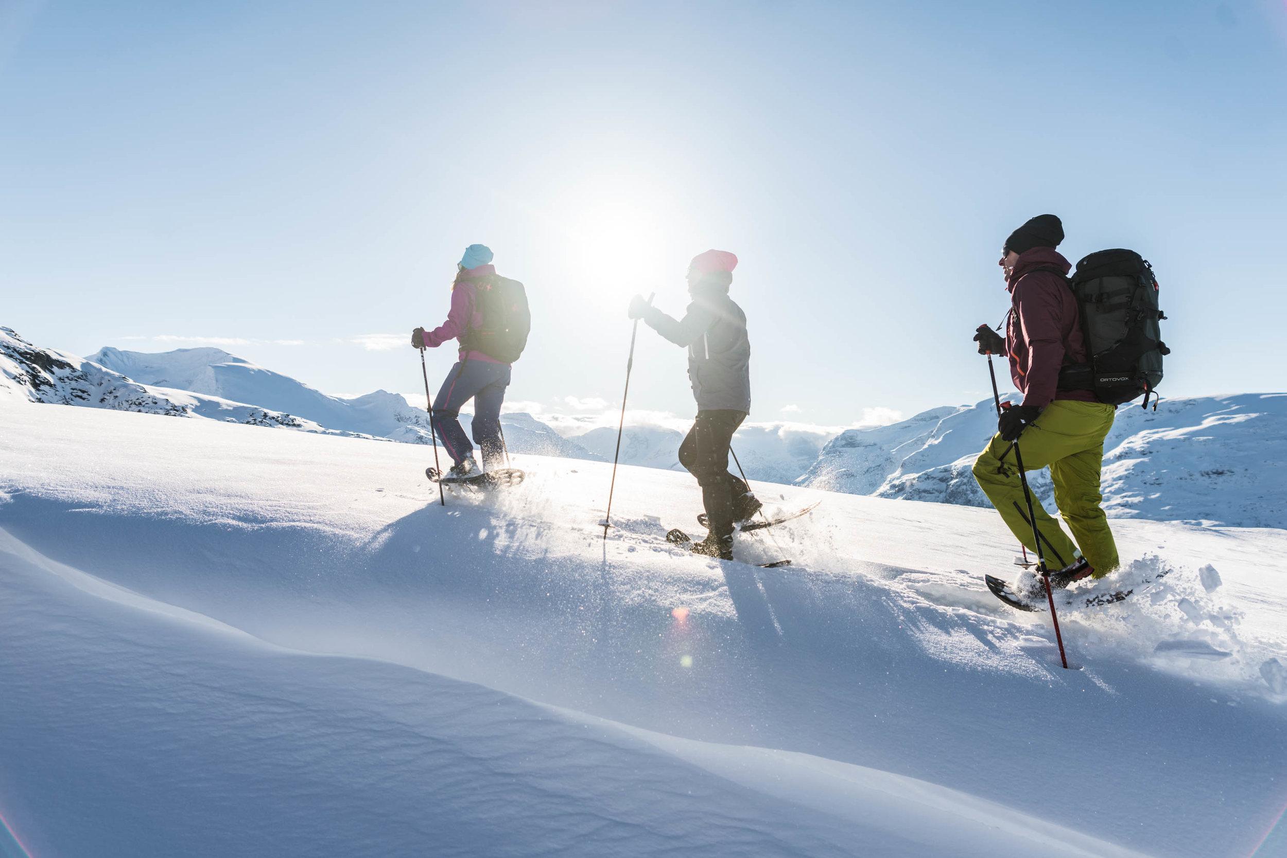 Snow-shoeing -