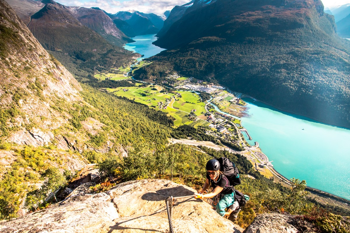 Via Ferrata Loen. Photo: Lovestorm Photography