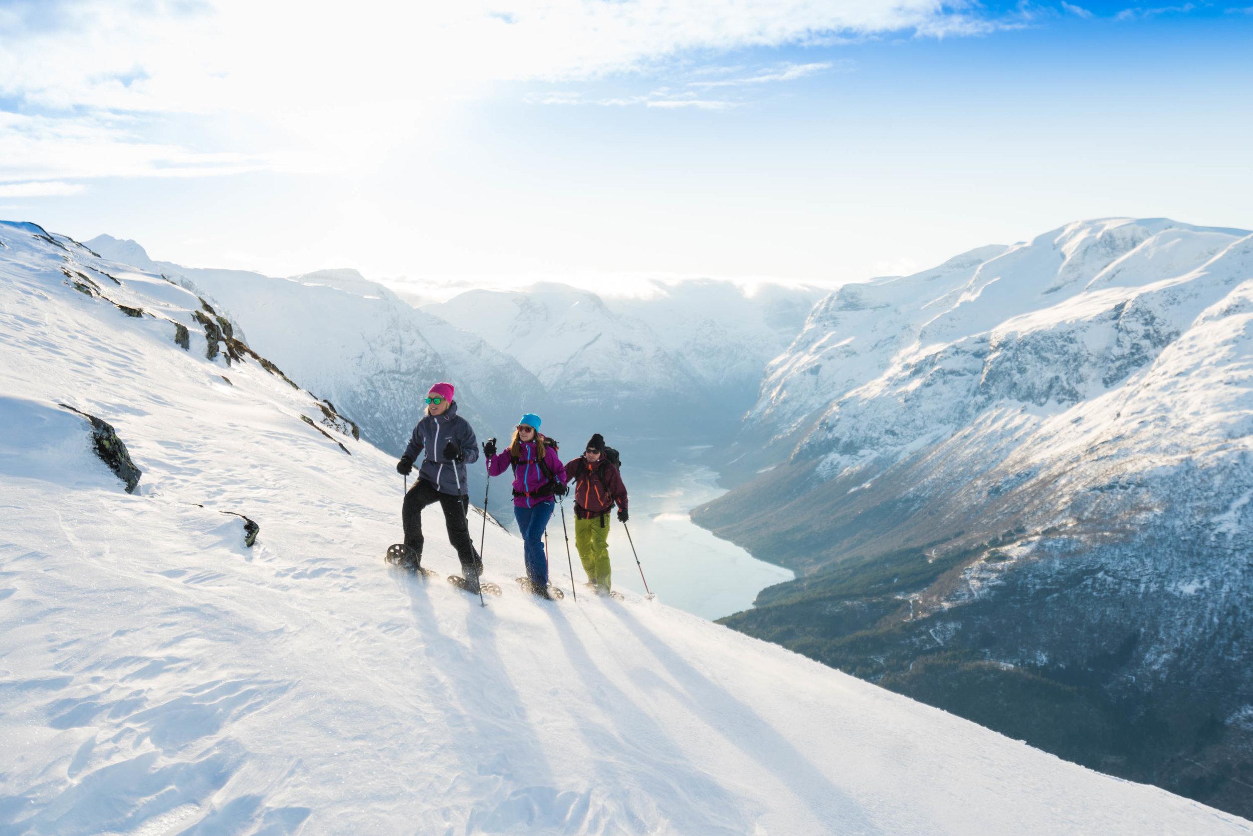 Snowshoe hiking -