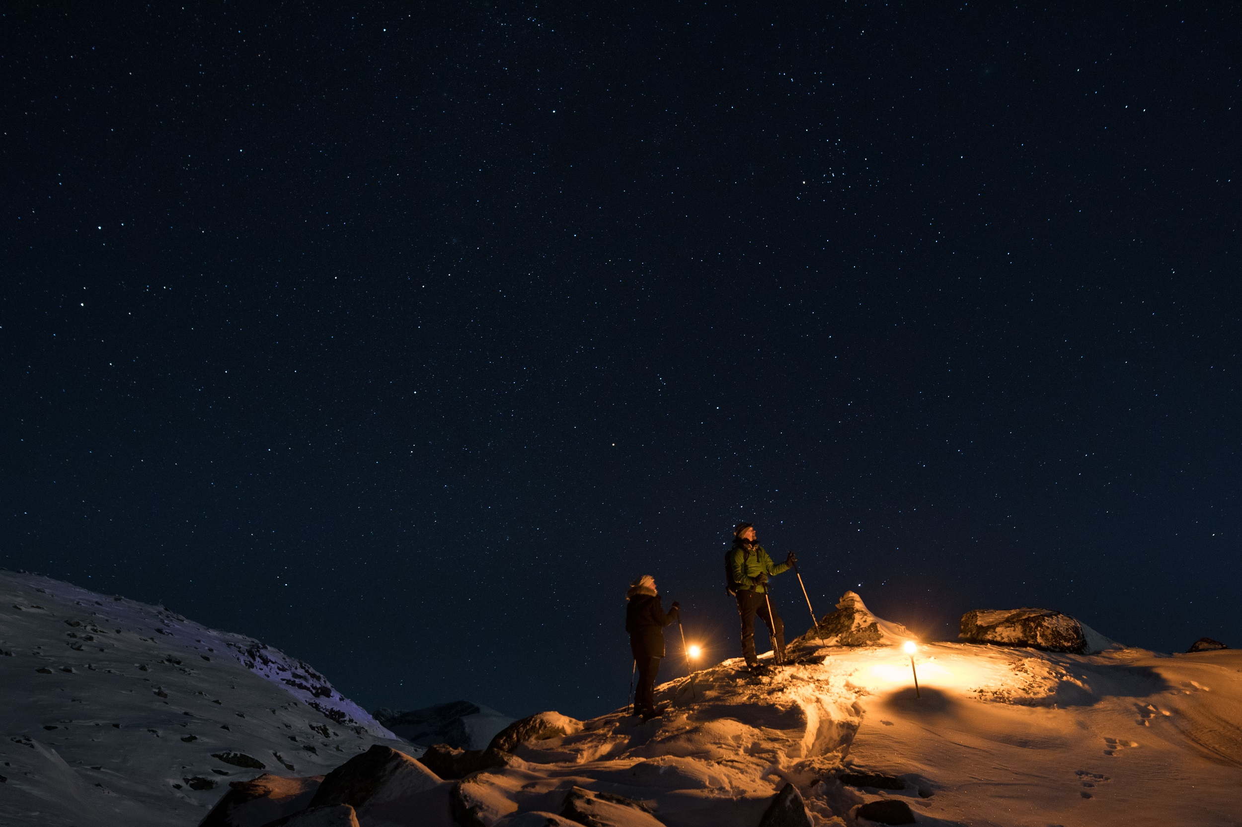 Lantern hike at Mt. Hoven