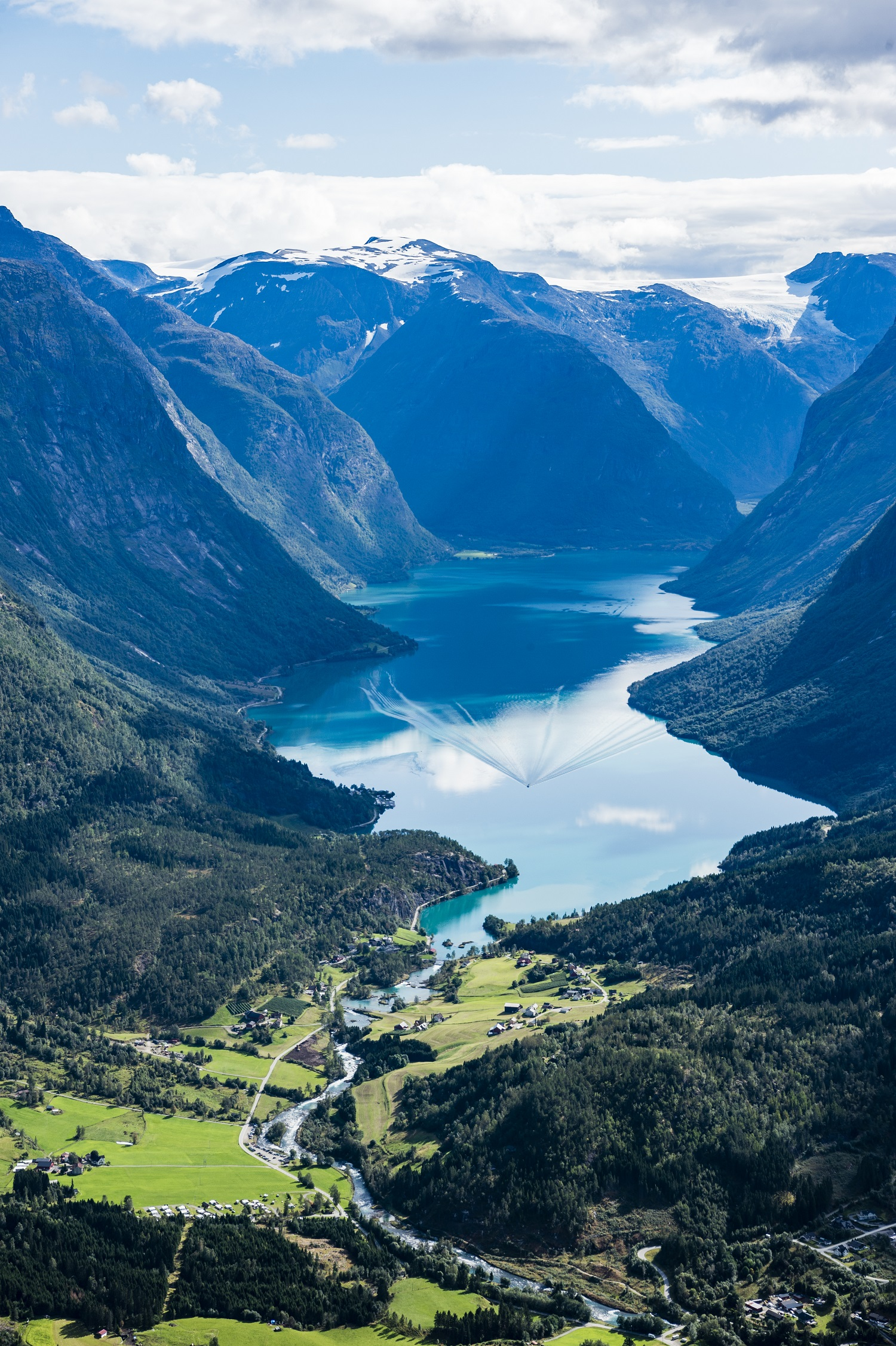 Lodalen Valley, seen from Loen Skylift.