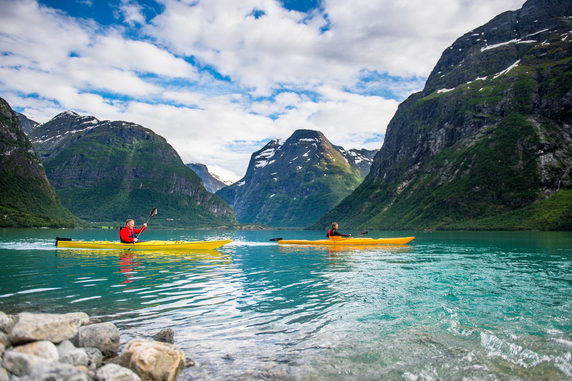Kayaking in Lodalen