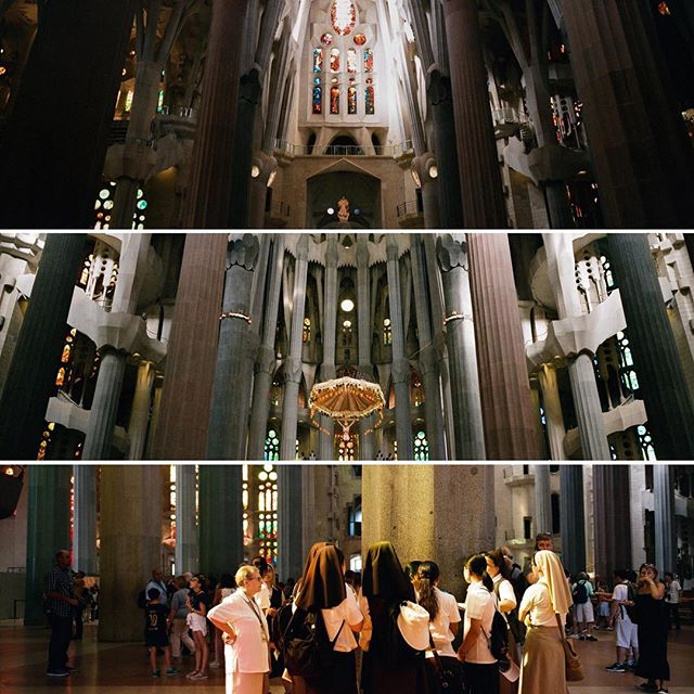 The interior and sisters in Sagrada Familia.  #hasselblad #hasselbladxpan #xpan #natura1600 #sagradafamilia