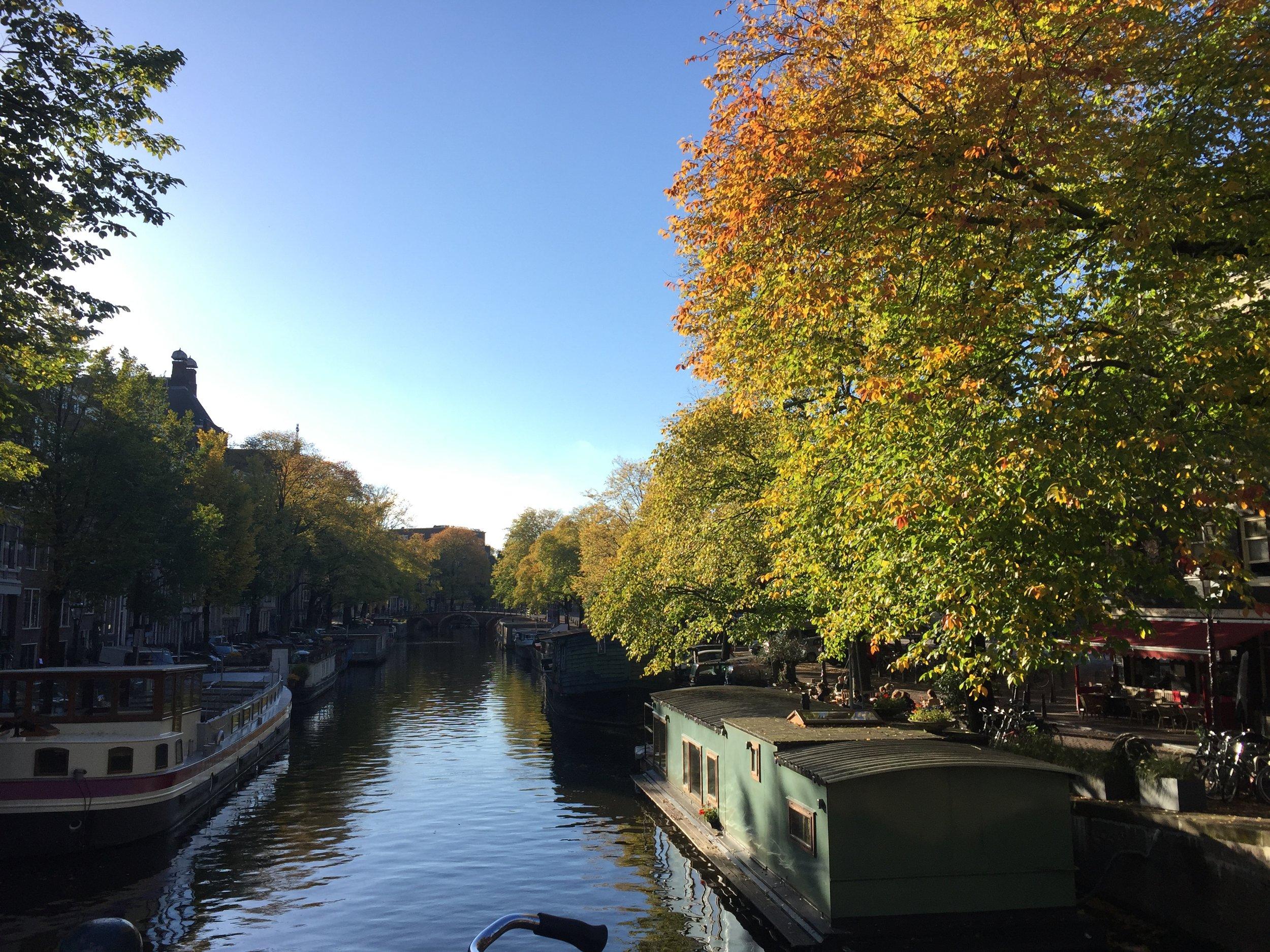 Autumn view on Prinsengracht