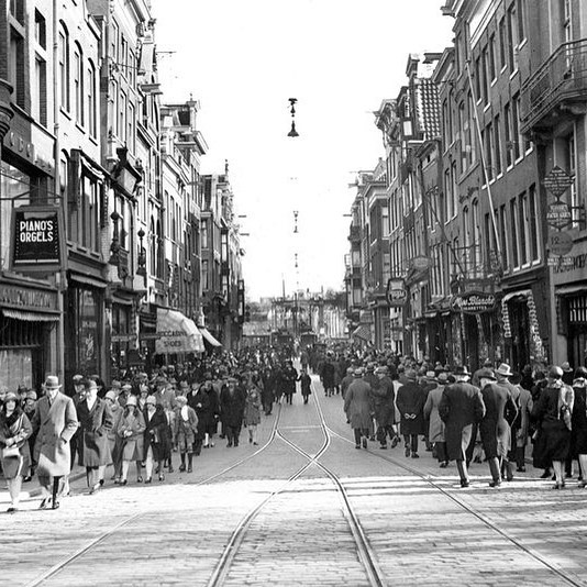 Utrechtsestraat/ Prinsengracht, the year 1929