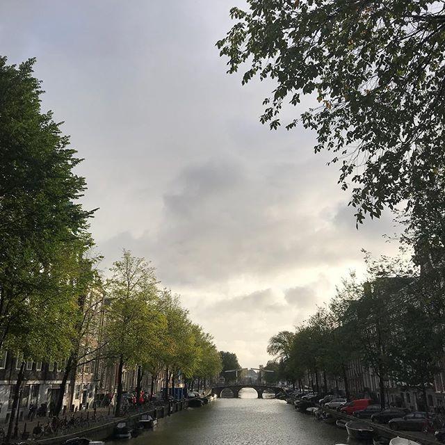 #goodmorningamsterdam #autumn🍂 #sunandrain #herengracht