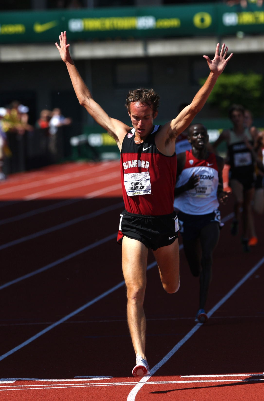 Chris Derrick, one of Jason's standouts at Stanford, taking first place at the 2012 Pac-12 5,000m Championship.