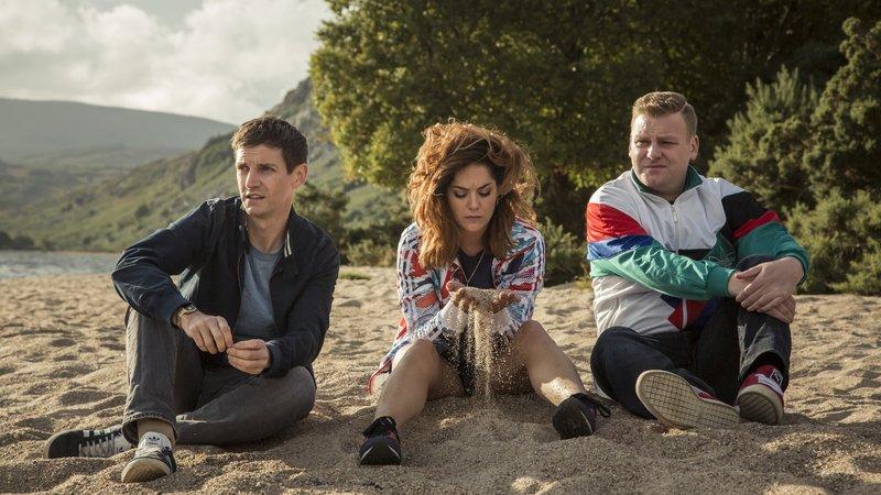 Emmet Kirwan as Jason, Sarah Greene as Lisa and myself as Bobby in 'Dublin Oldschool'