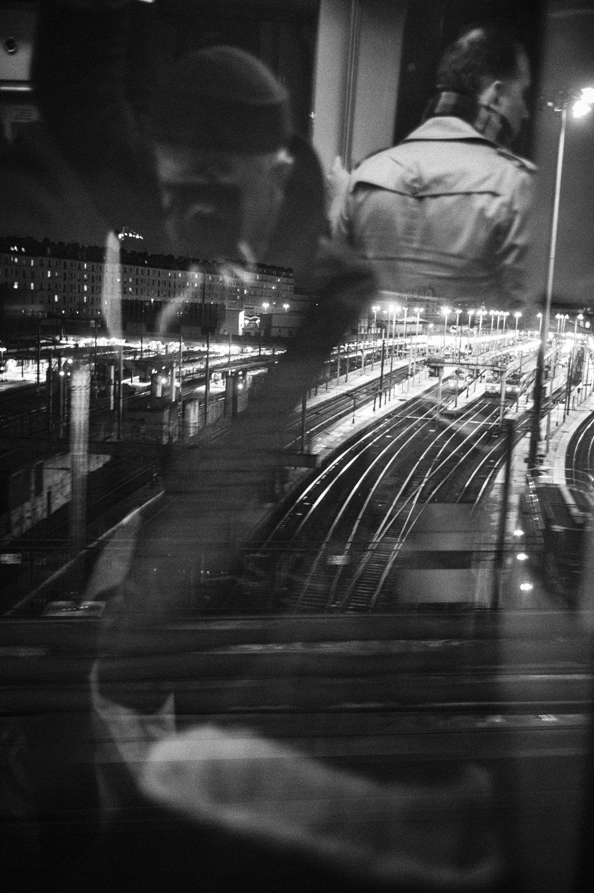 Gare du Nord, vue du Metro Ligne 2, Paris