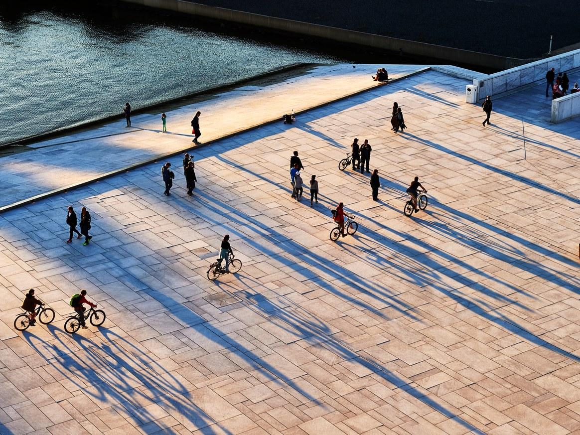 Bikes outside the Oslo Opera House. (Andrea Pistolesi / Getty Images)