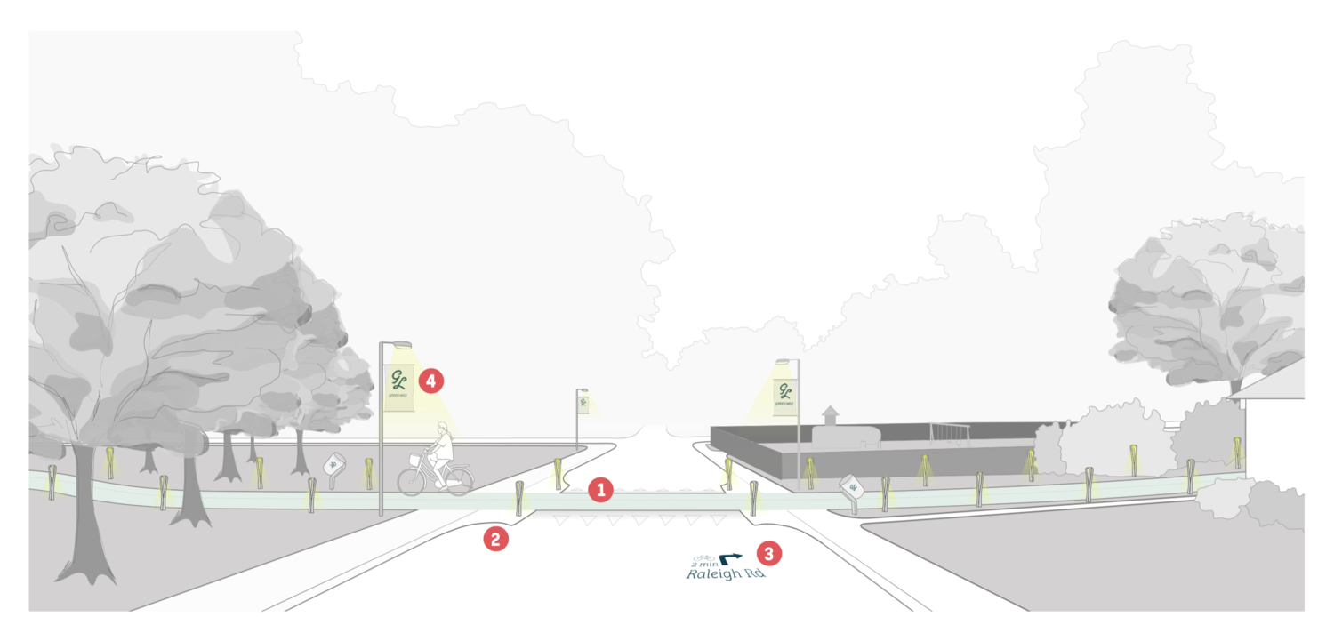 Envisioning a bicycle-friendly future for Glen Lennox.