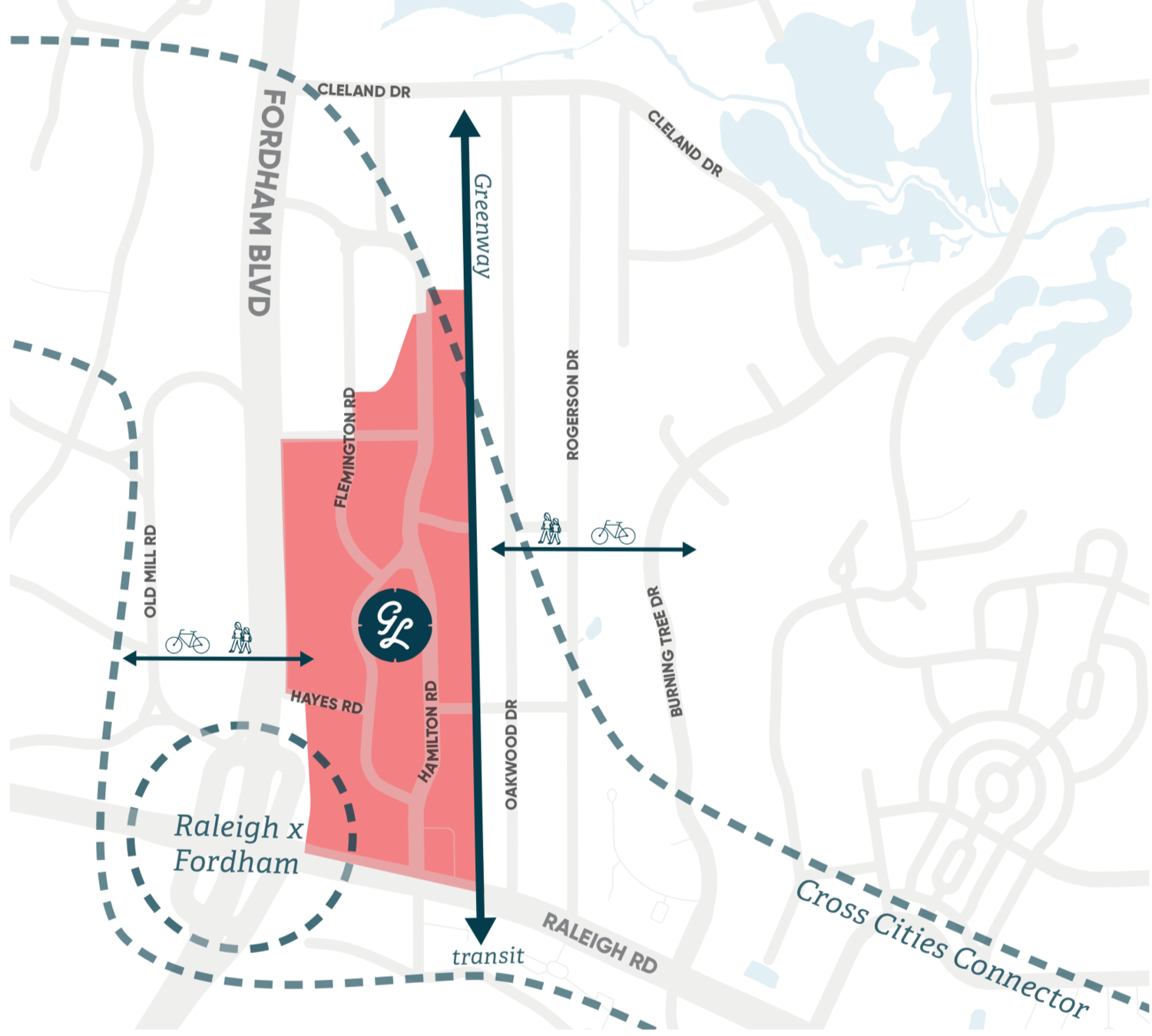 This year, Grubb Properties hired Copenhagenize Design Co. to conduct analysis and design a bicycle network strategy for the modern redevelopment of the Glen Lennox neighbourhood in Chapel Hill, North Carolina. -