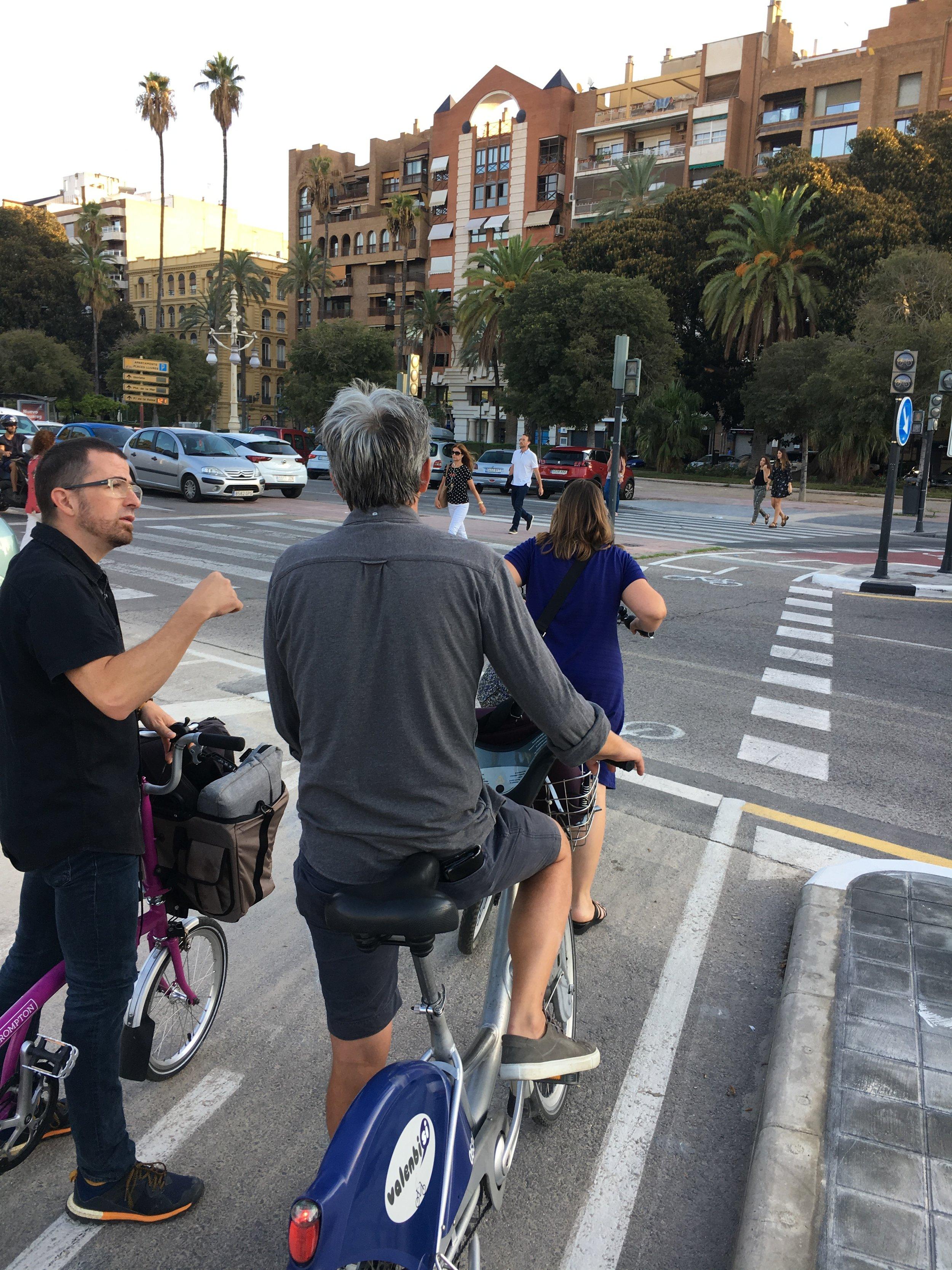 On tour in Valencia.
