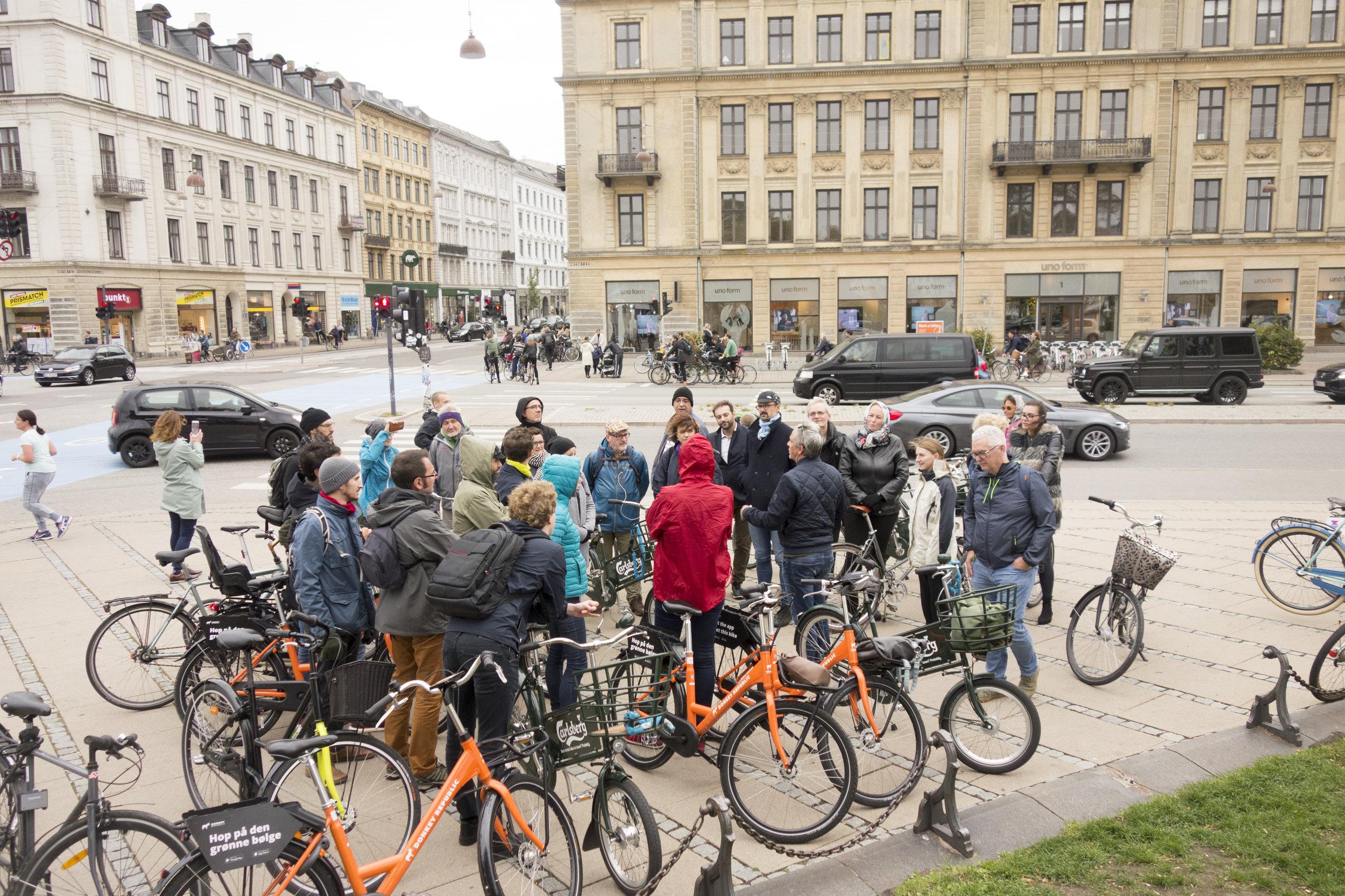 On tour with Copenhagenize Design Co. in Copenhagen.