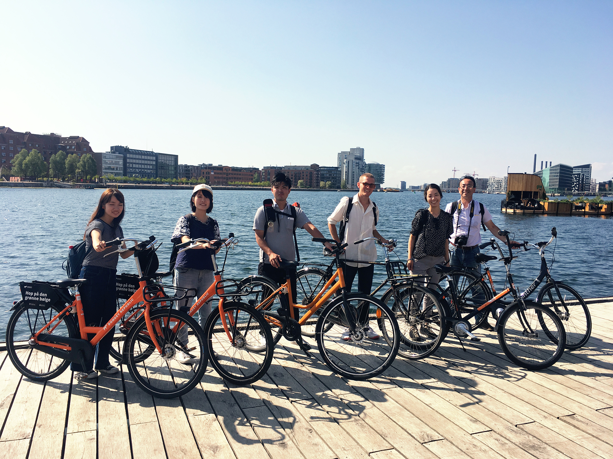Urban planning students from Kitakyushu, Japan visiting Copenhagen.