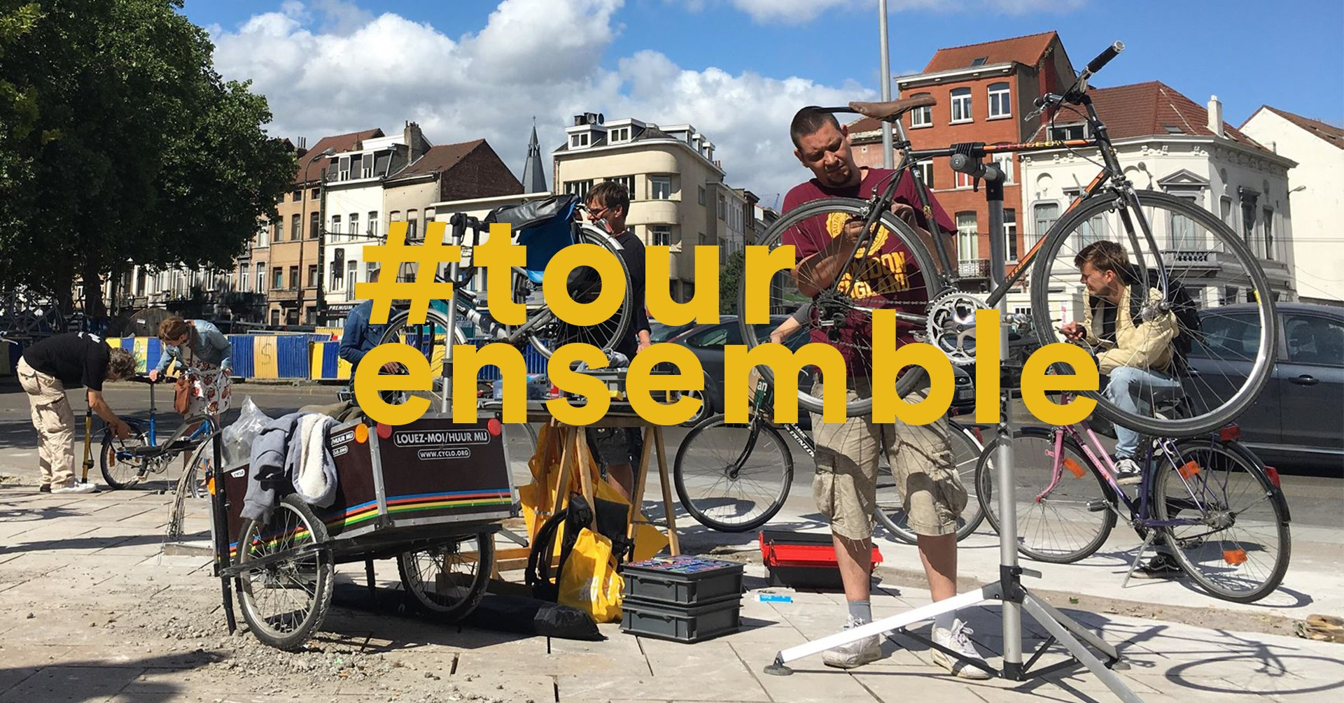 Giving some bike love: on Bike Repair Day people could hand in their bike for a professional check up, free of charge © Brussels Mobility