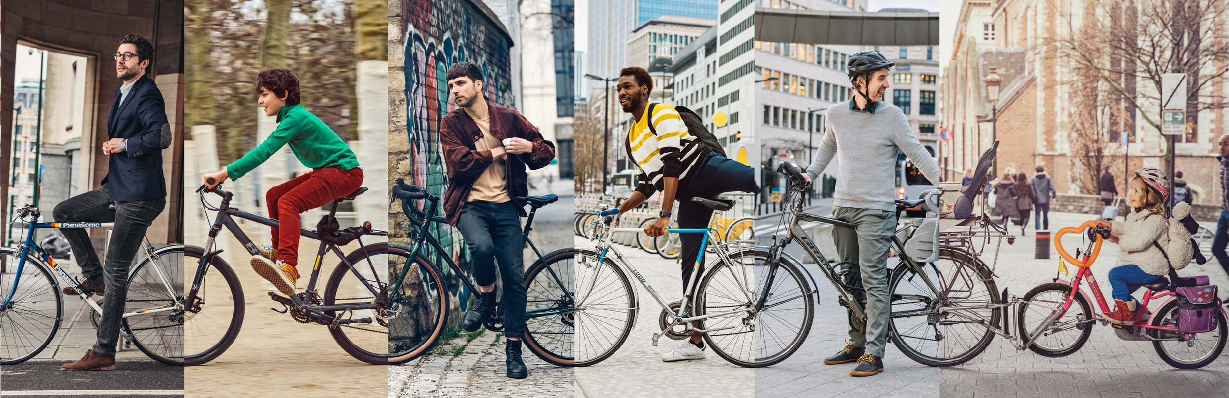 The campaign for and with the bicycle users of Brussels, the biggest team of cyclists are the citizens themselves © Brussels Mobility