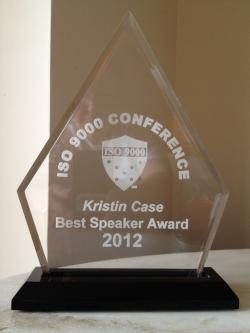 Kristin Case award for ISO 9000 conference