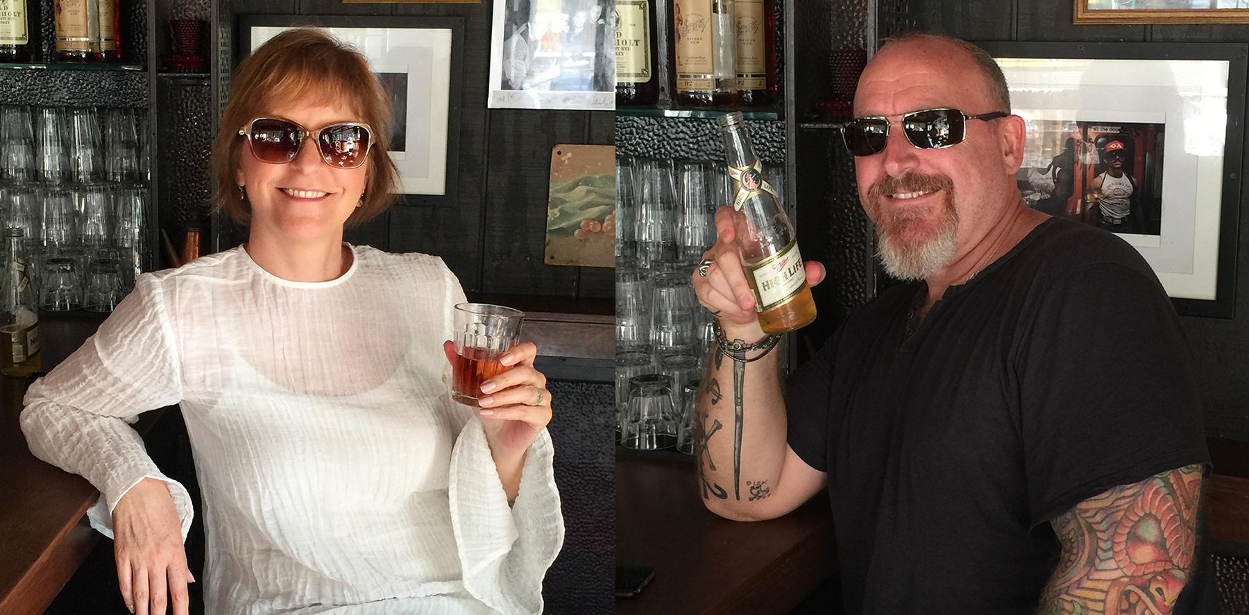 Jen & I day drinking at Belle Reve