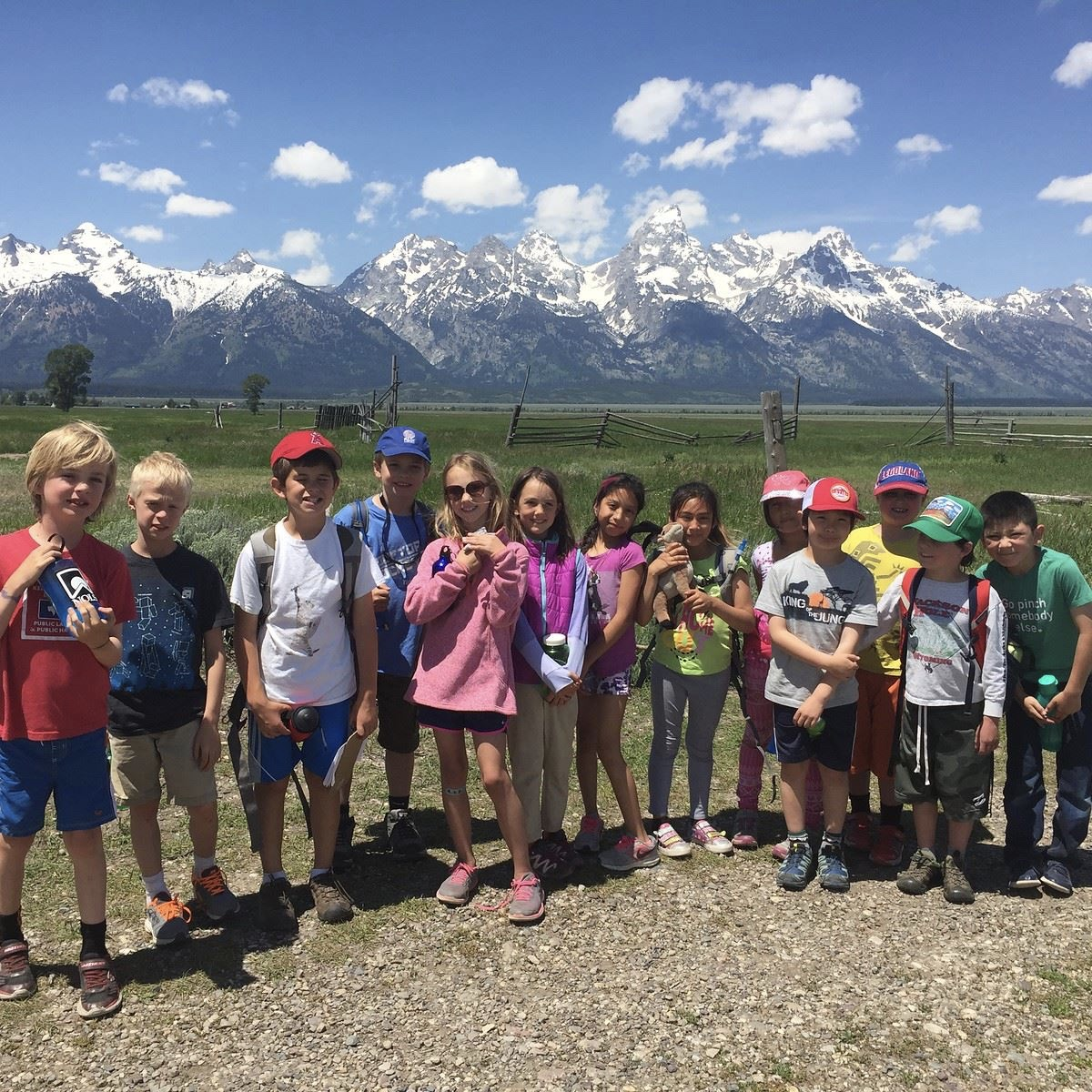 Students at participating camp, Teton Science School's 2017 summer program.