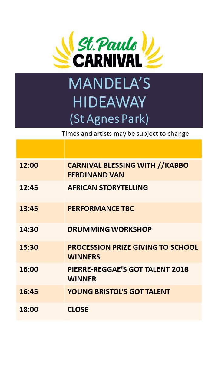 Mandelas Hideaway Stage Line Up St Pauls Carnival 2019.jpg