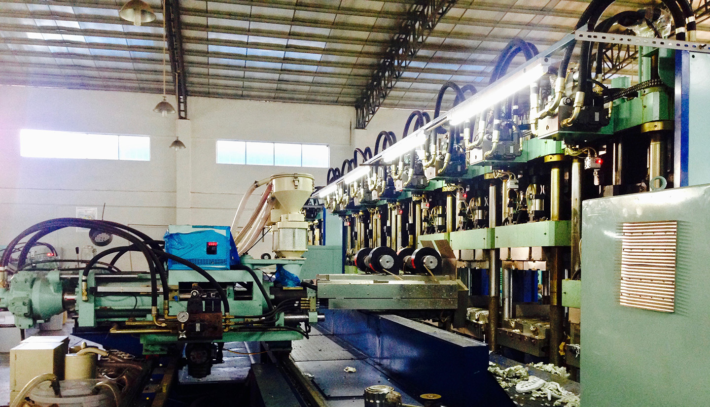 An eight station machine houses eight molds. There are also six station injection machine depends on manufactory sizes.