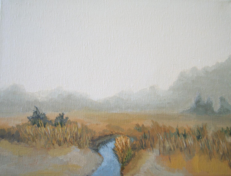 """Salt Marsh,"" acrylic on canvas, 8""x10"" (collection of the artist) 2015"