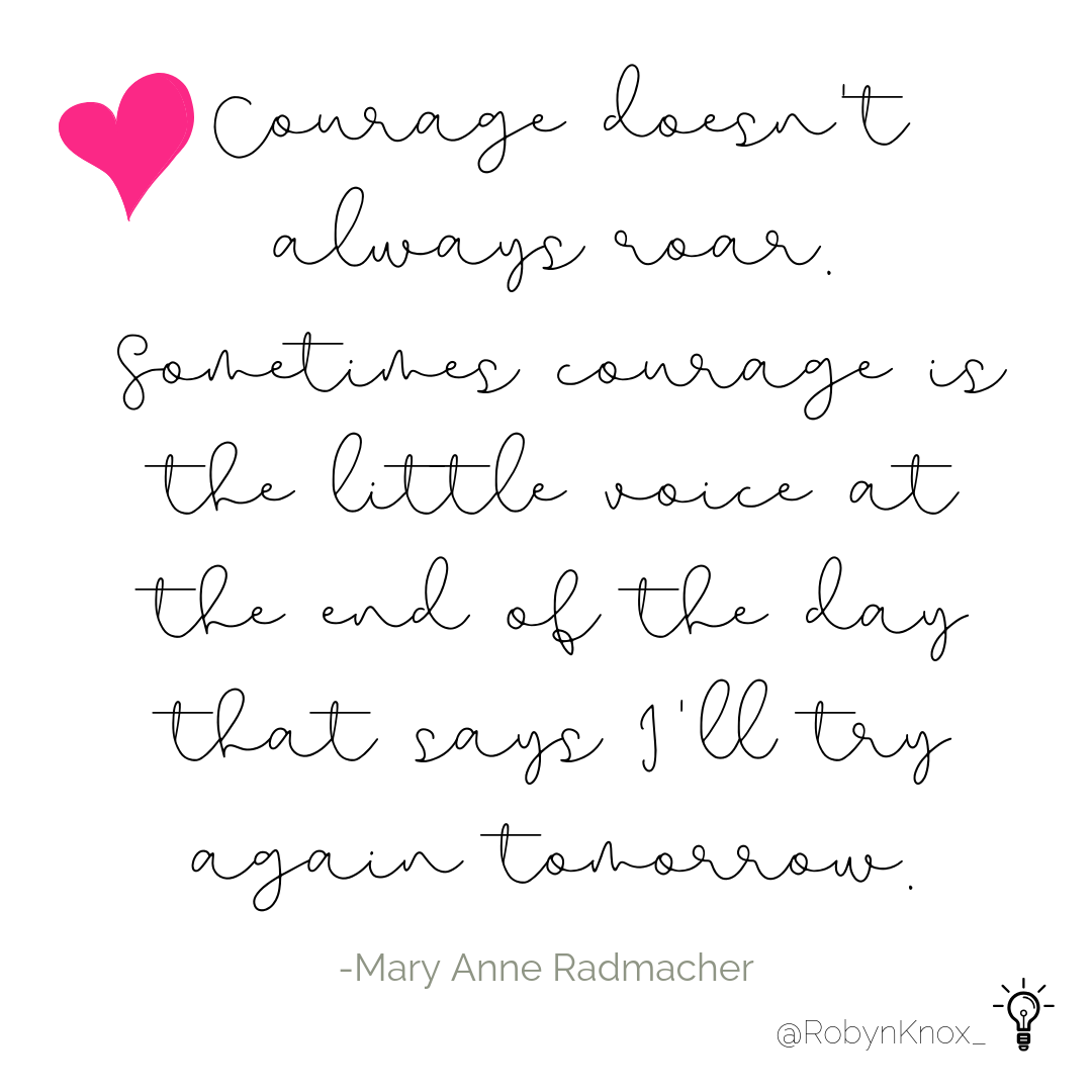 Building a business and life that we're proud of is hard work. This has been a favorite quote for the past 20 years. Thank you @maryanneradmacher for bringing your courage and wisdom to the world.  #courage #roar #ladyboss