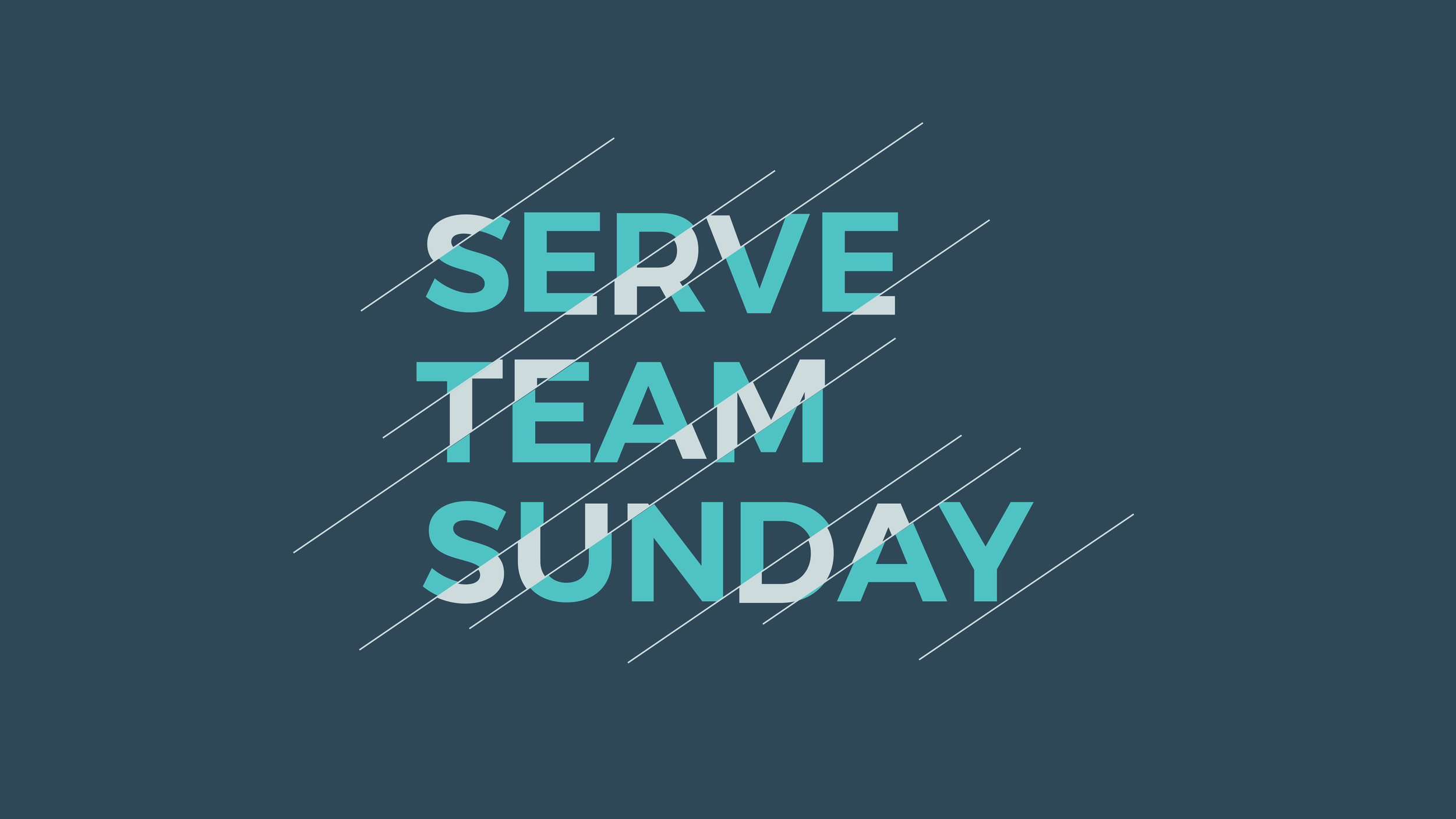Serve Team Sunday 2019