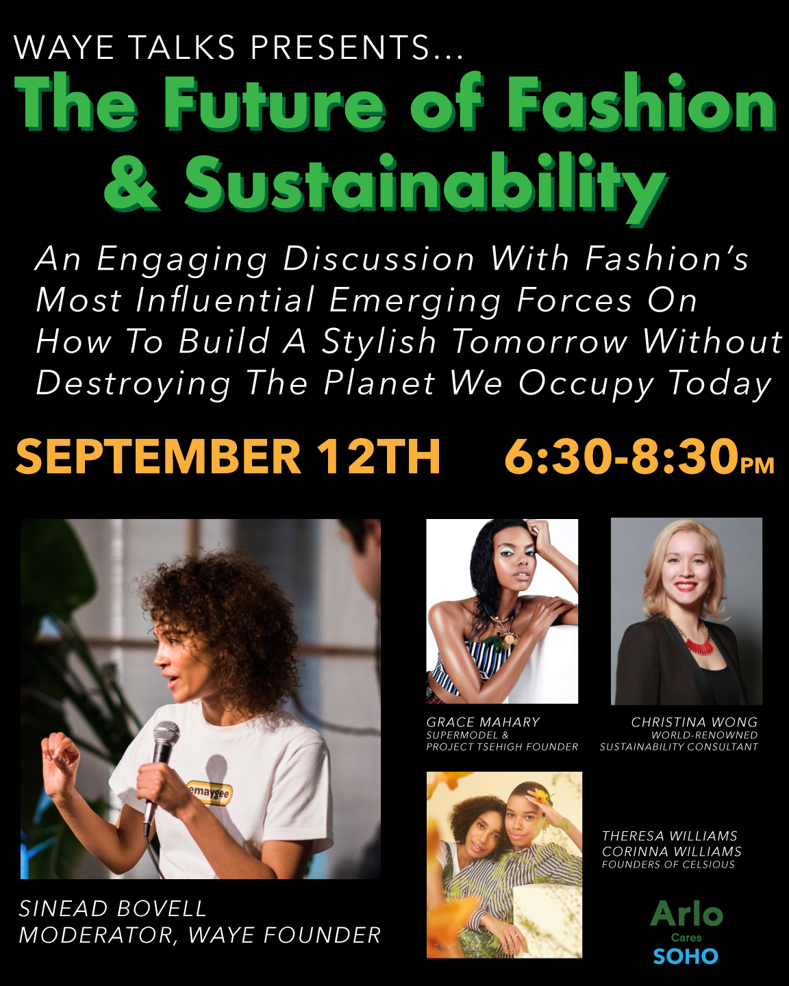 The Future of Fashion & Sustainability - Wednesday, September 12th 6:30-8:30pm