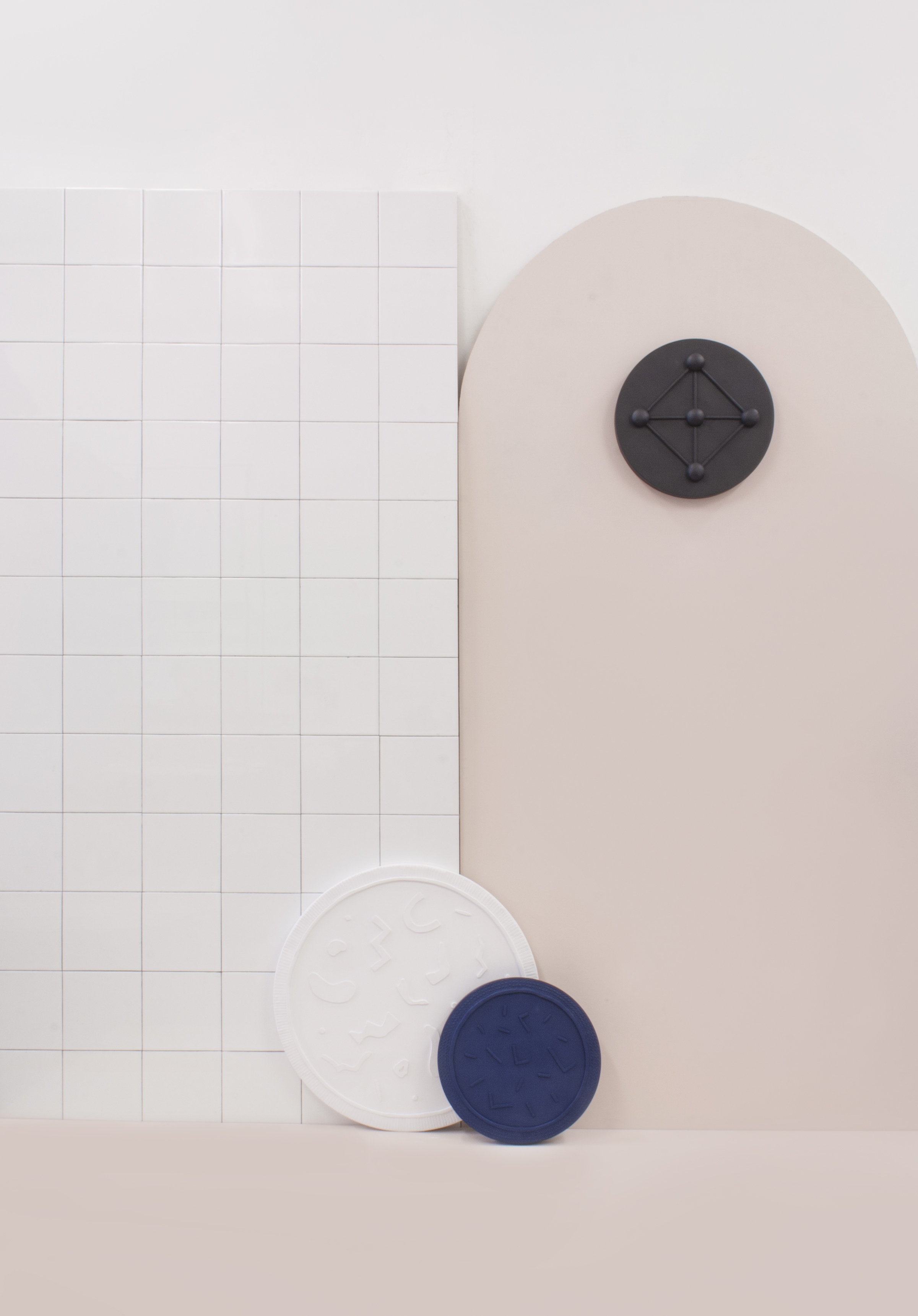 walac. design studio wall and ceiling removable medallions Polar collection