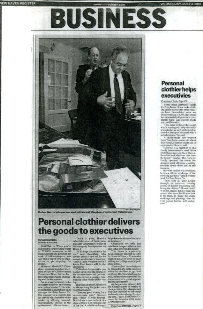 Personal clothier delivers the goods to executives