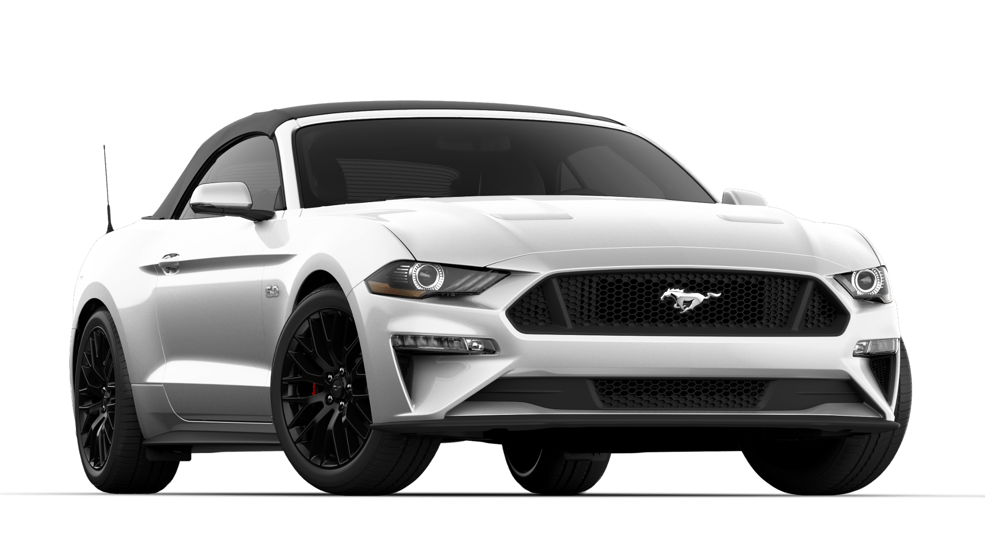 V8 GT Premium 401A Convertible$55,700 - + Oxford White+ 10-Speed Automatic Transmission+ GT Performance Package 1+ Quad Tip Active Exhaust+ Convertible+ B&o premium sound upgrade