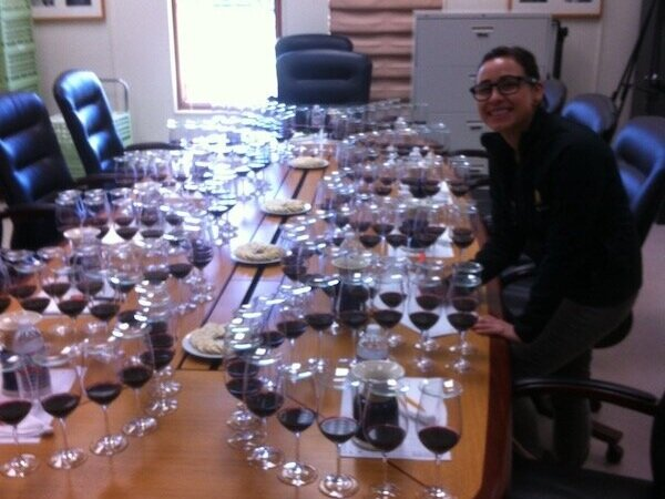A daily occurrence of tasting 15 version of the same wine blend.