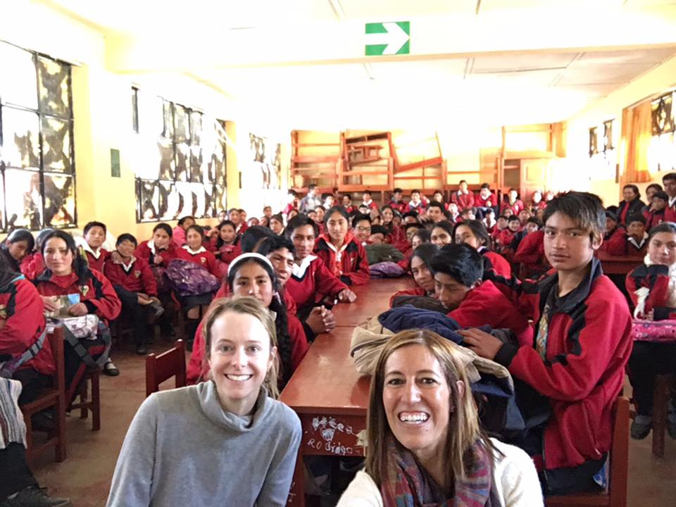 Katie and I with the students at Vicente Guerrero Palacios