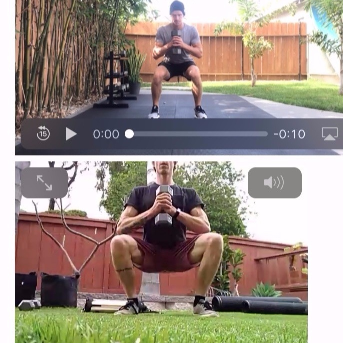 Exercise video comparisons