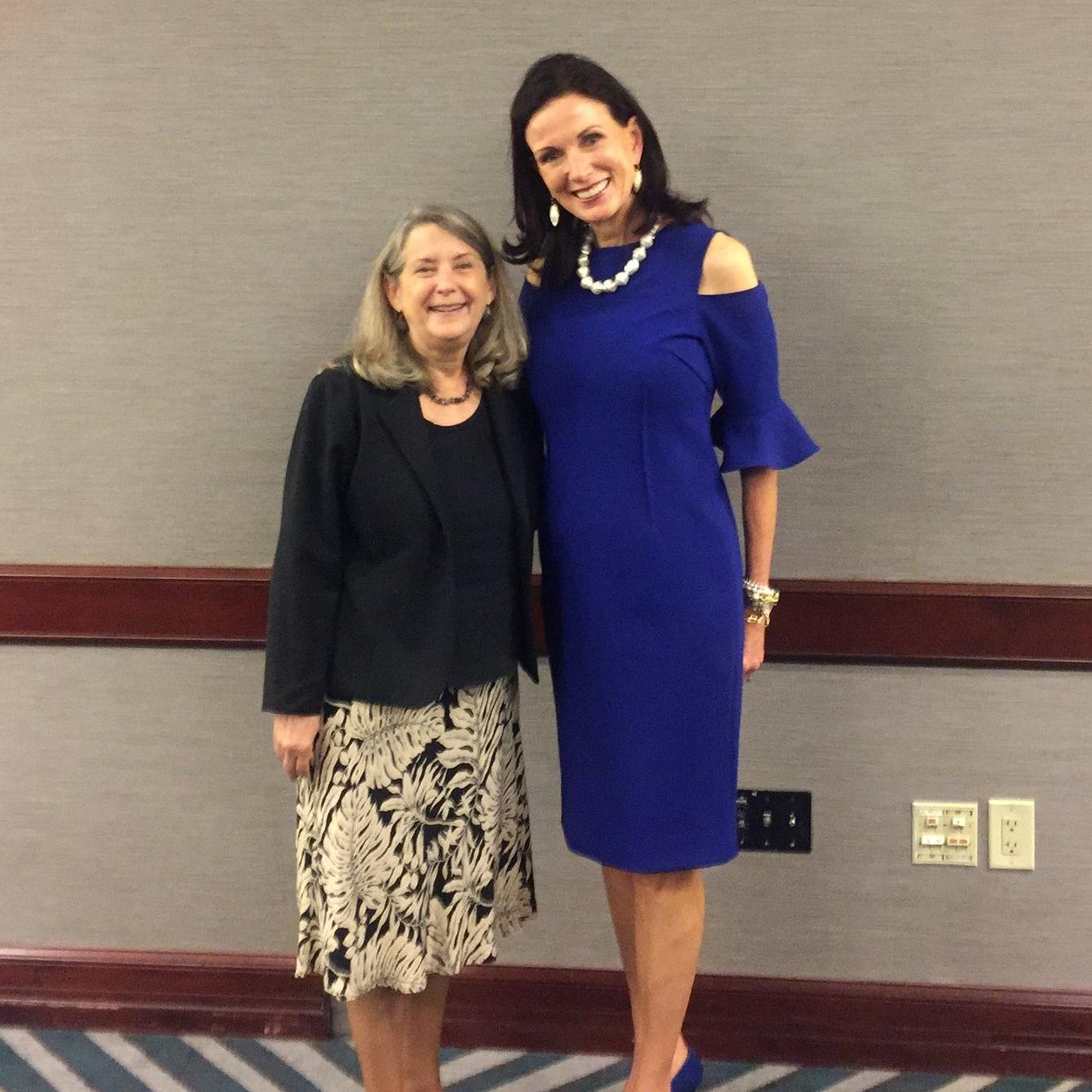 Karen with Kathy Whitmire, first female Mayor of Houston.