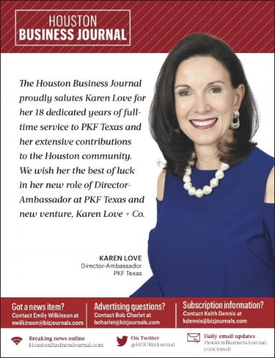 - Thanks, Houston Business Journal, for this recognition. I'm grateful for the opportunities we continue to create for one another.