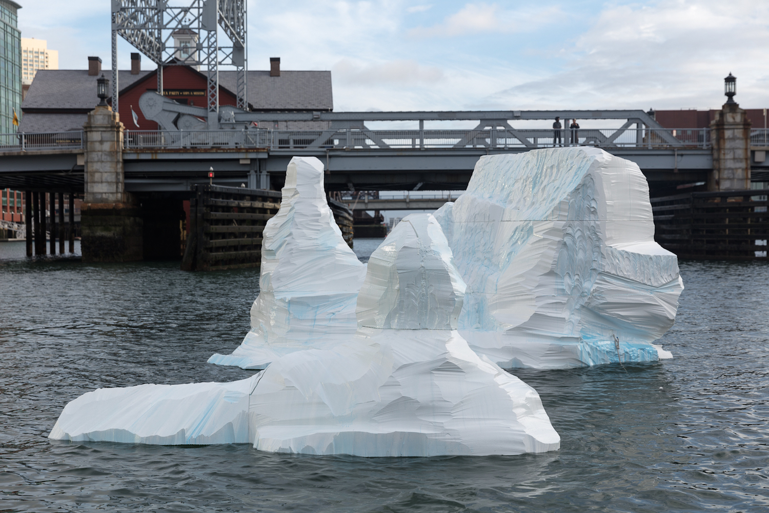 Gianna Stewart , Iceberg , FPAC Floating Public Art, Fort Point Channel, Boston, MA, 2018 (photo credit: Robert Gilliam)