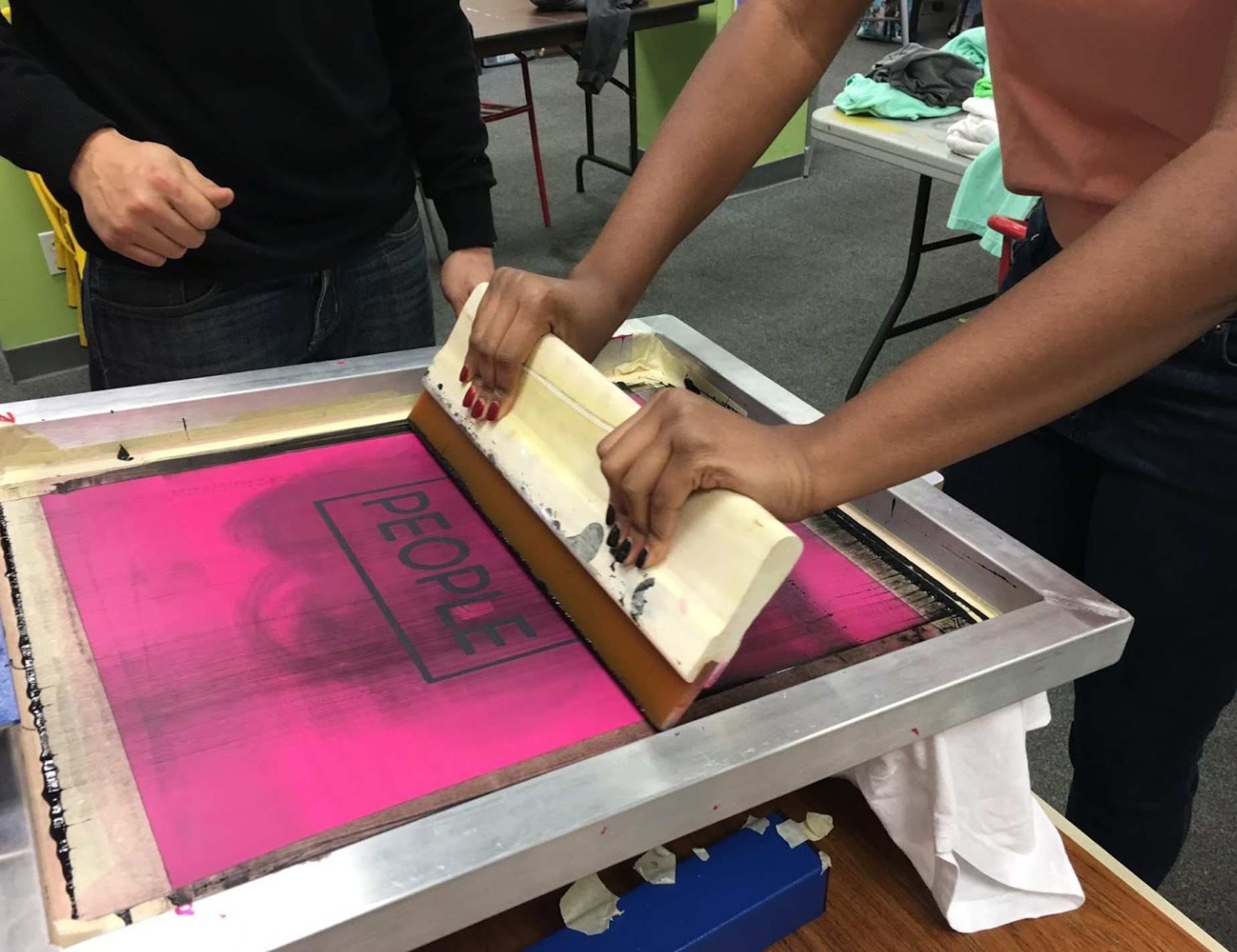 Community workshop run by Paper City Clothing Company