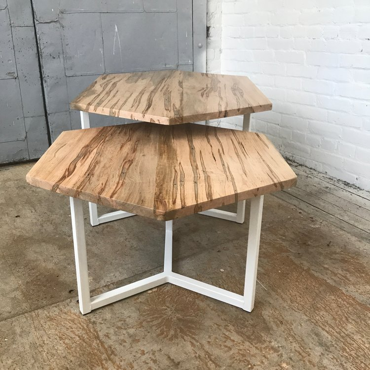 Matthew Johnson, Two part wormy maple coffee table