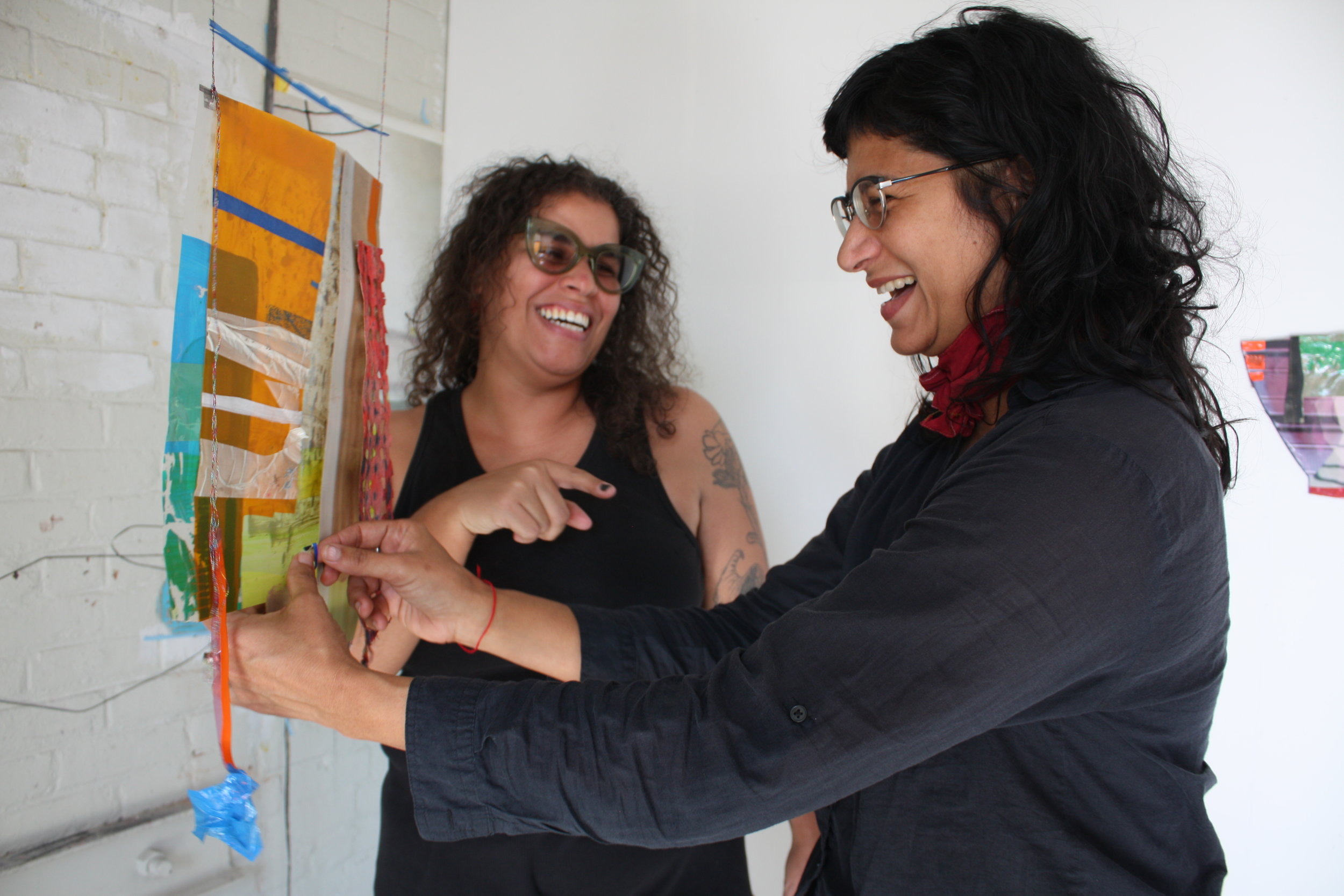 Residents Ivelisse Jimenez and Lilliam Nieves