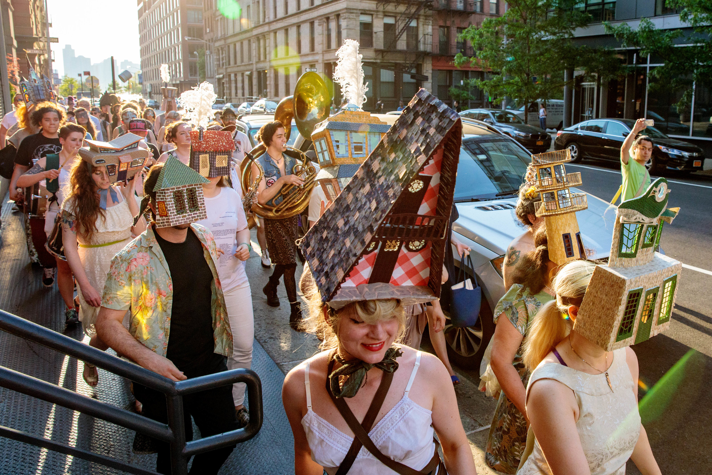 Laura McMillian ,  House Party: A Parade to Find Home , 2017 (photography by Tod Seelie)