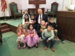 Children with Pastor Ken